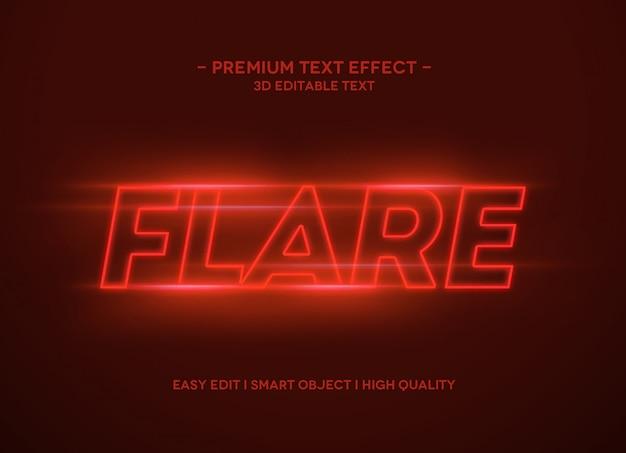Шаблон стиля эффекта flare text