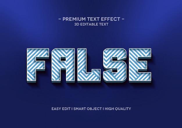 Шаблон стиля текстового эффекта flase