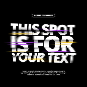 Flash blurred text effect