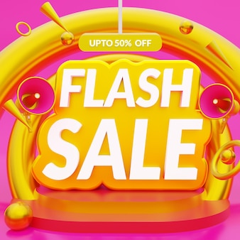 Flash sale banner promotional template