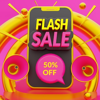 Flash sale discount banner promotion template