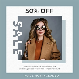 Flash sale fashion collection social media banner template