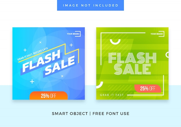 Flash sale social media banner