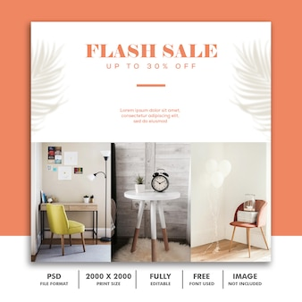 Flash sale social media post template