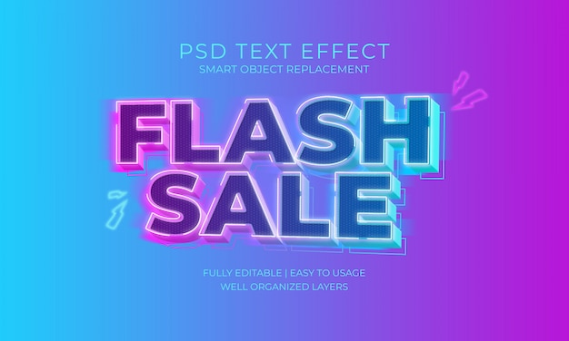 Flash sale text effect