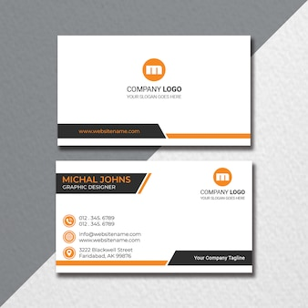 Flat business card design
