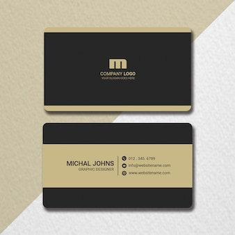 Flat business card