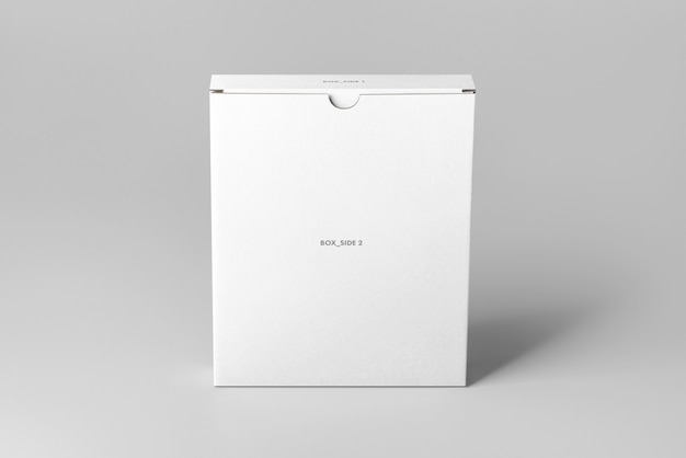 Flat carton box mock up