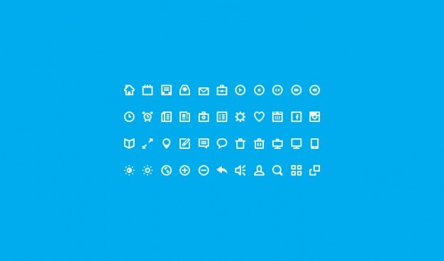 Piatto icon set icone