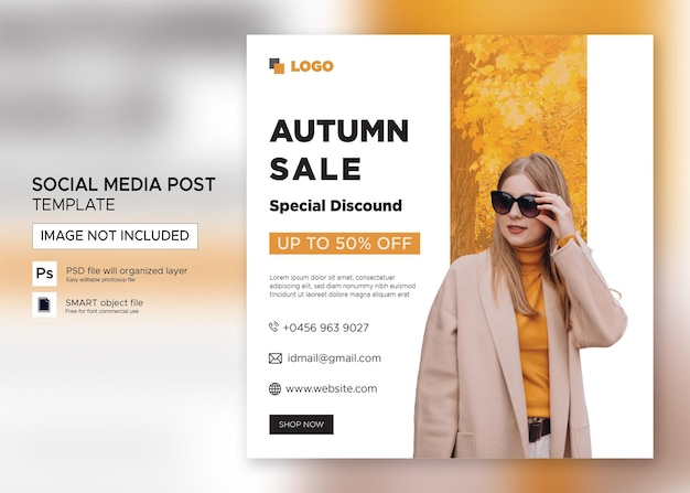 Flat instagram flyer for clothes sale post template premium psd