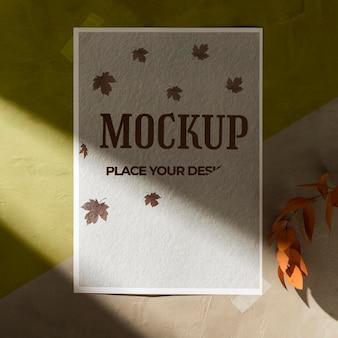 Lay piatto del bellissimo mock-up di moodboard autunnale