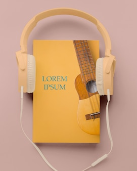 Disposizione del modello di copertina del libro piatto laico