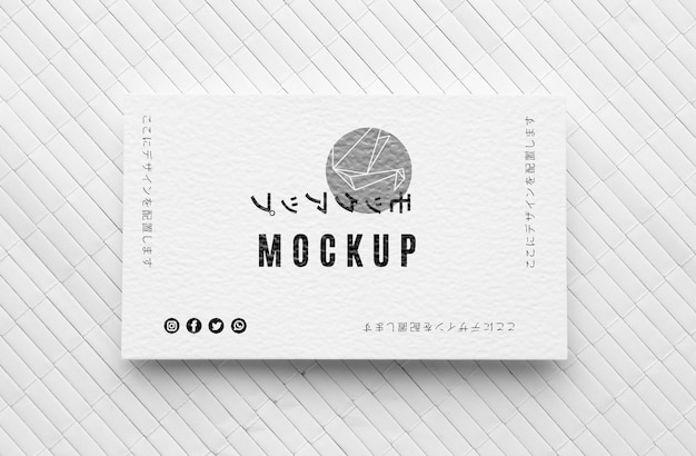 Flat lay business card mock-up assortment