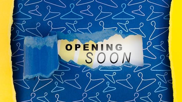 Открытие магазина одежды для плоской планировки в ближайшее время макет на бумаге