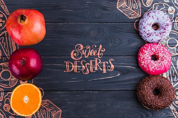 Плоская композиция для здоровой и нездоровой пищи