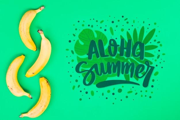 Макет плоской планировки с летними фруктами