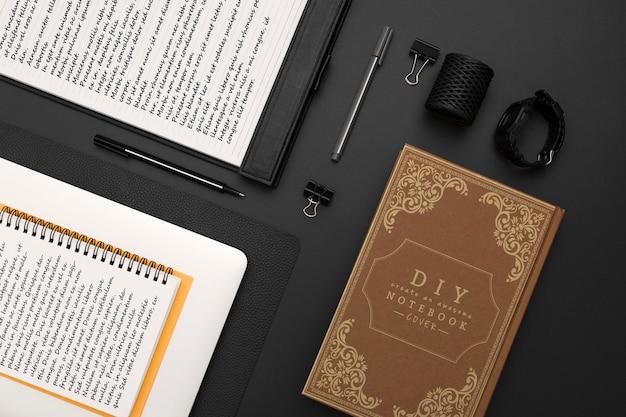 Плоская планировка темного стола Бесплатные Psd