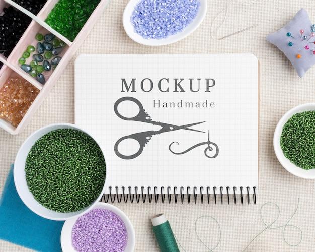 Mock-up del concetto di scrivania