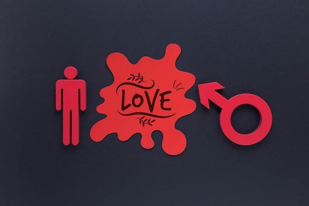 Плоский лежал гендерные символ
