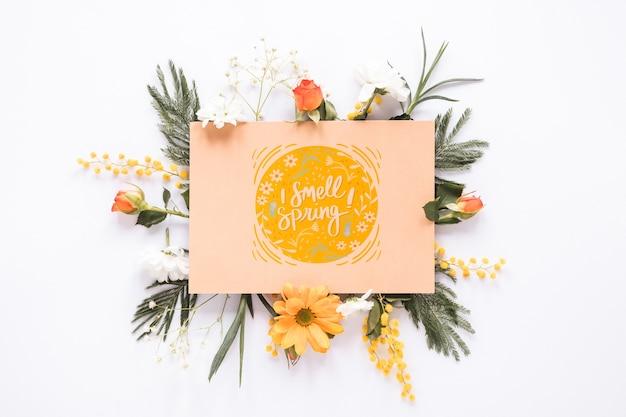 Плоский макет поздравительной открытки