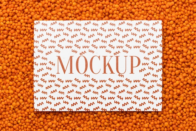 Disposizione piatta del design del telaio mock-up con semi