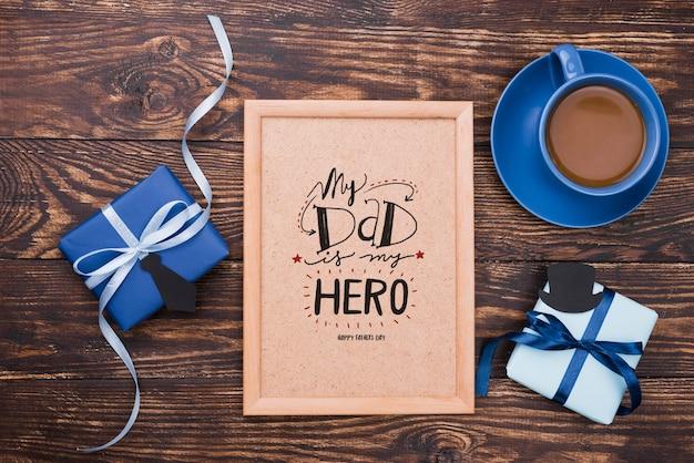 Плоская планировка макета дня отца