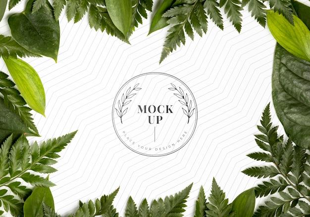 Плоский макет рамы листвы