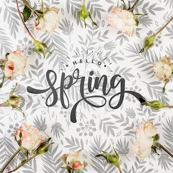 Плоская планировка из весенних роз