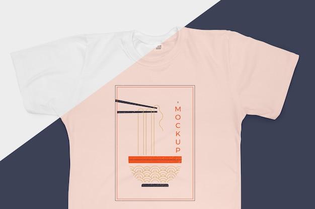 티셔츠 개념 모형의 평면 배치