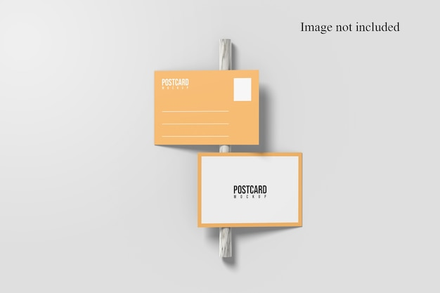 Flat lay of postcard mockup