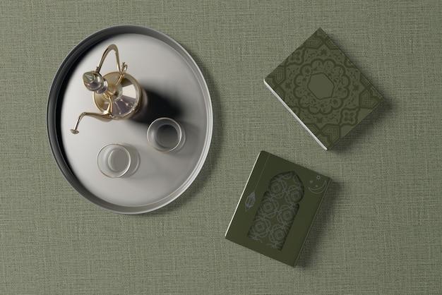 Плоский макет композиции рамадана