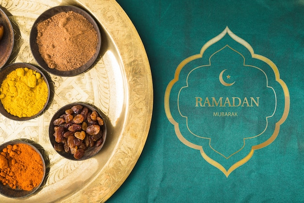 Плоский макет рамадана для логотипа