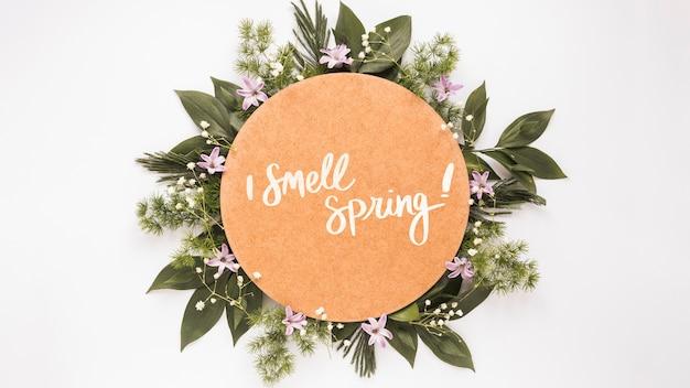 봄 플랫 평신도 라운드 카드 모형