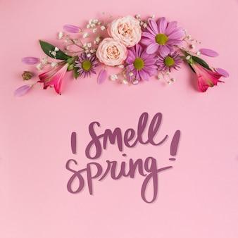 Copyspace와 평평하다 봄 이랑