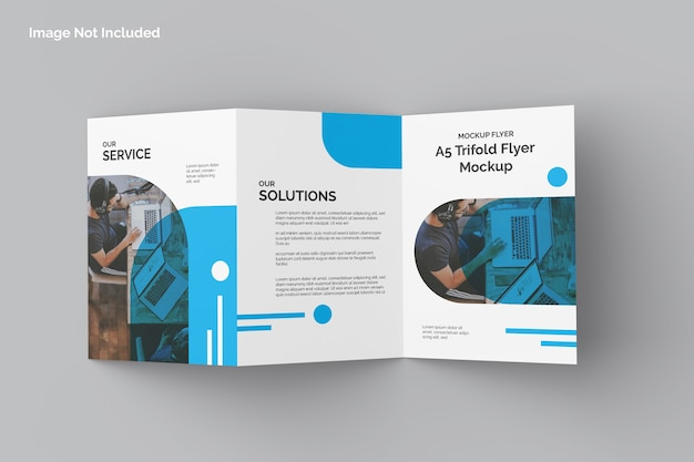 Flat lay of trifold flyer mockup