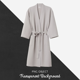 Flat lay of unisex beige bathrobe mockup