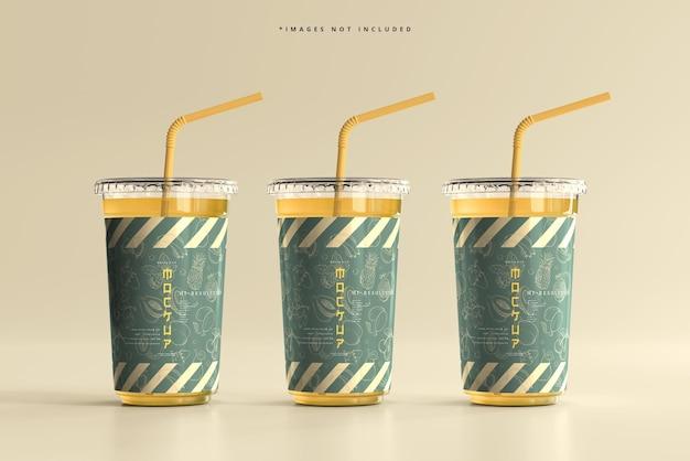 フラットリッド大型プラスチックカップモックアップ