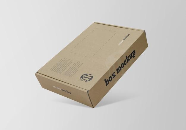 分離された平らな紙箱のモックアップ