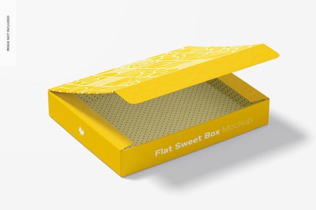 Мокап плоской сладкой коробки