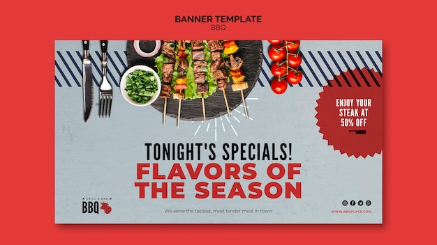Flavours of the season bbq banner template