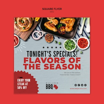 Flavours of the season bbq square flyer