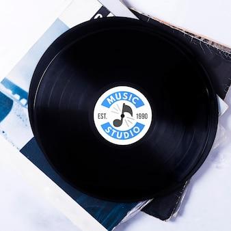 Flay lay music vinyl