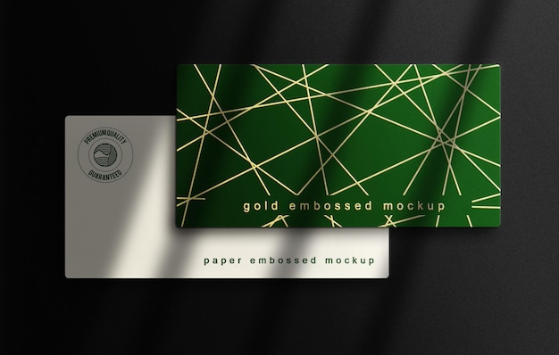 Flayer mockup with silver embossed