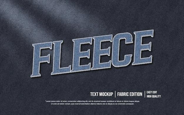 Fleece 3d text style effect template