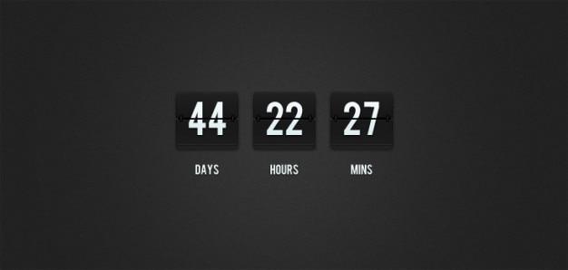 Flip-clock countdown (psd)