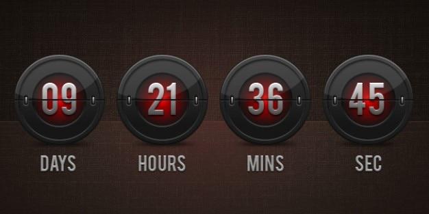 Flip clock countdown  psd