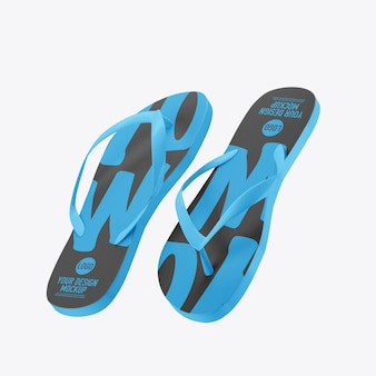 Flip flops mockup isolated