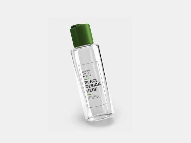 Flip top bottle mockup design