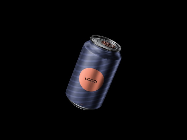 Floating 300ml can mockup