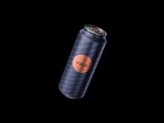 Floating 500ml can mockup